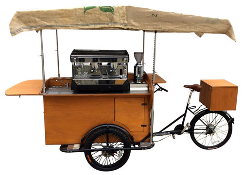 COFFEE BIKE TRICICLO BANCO IN LEGNO Basic