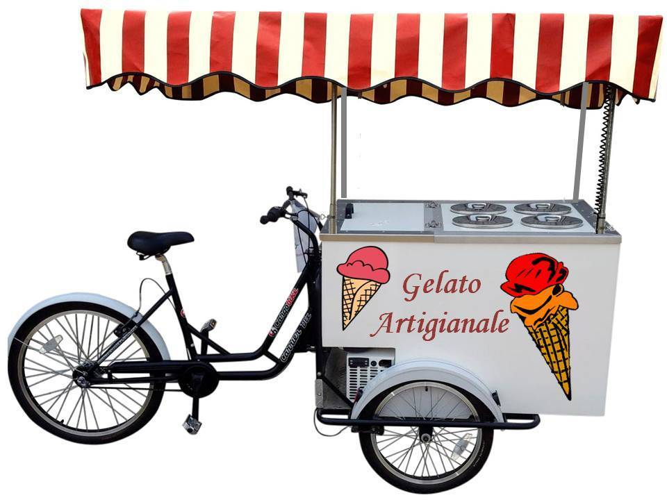 ICE CREAM CART OMAR BATTERY POWERED 4 Flavors +4