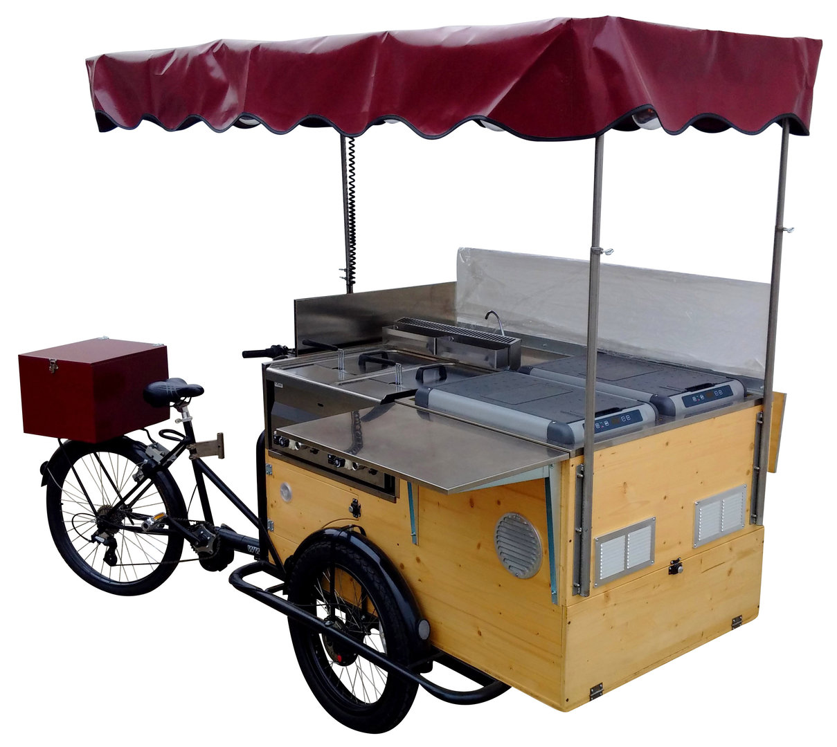 STREET FOOD BIKE QUADRA WOODEN BASIC