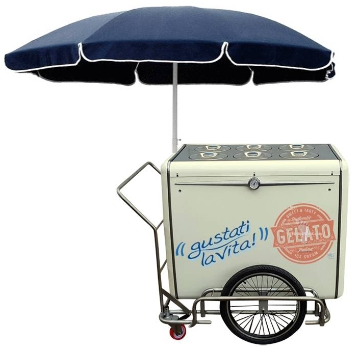 ICE CREAM PUSH CART MIAMI 6+4 FLOWERS BASIC