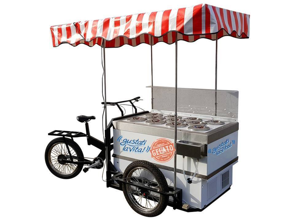 ICE CREAM CART OMAR BATTERY POWERED 11 Flavors