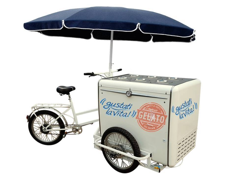 ICE CREAM CART Bike MIAMI 6+4 FLOWERS BATTERY Kronos