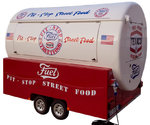 Secon Hand Trailer Street Food Truck Towable