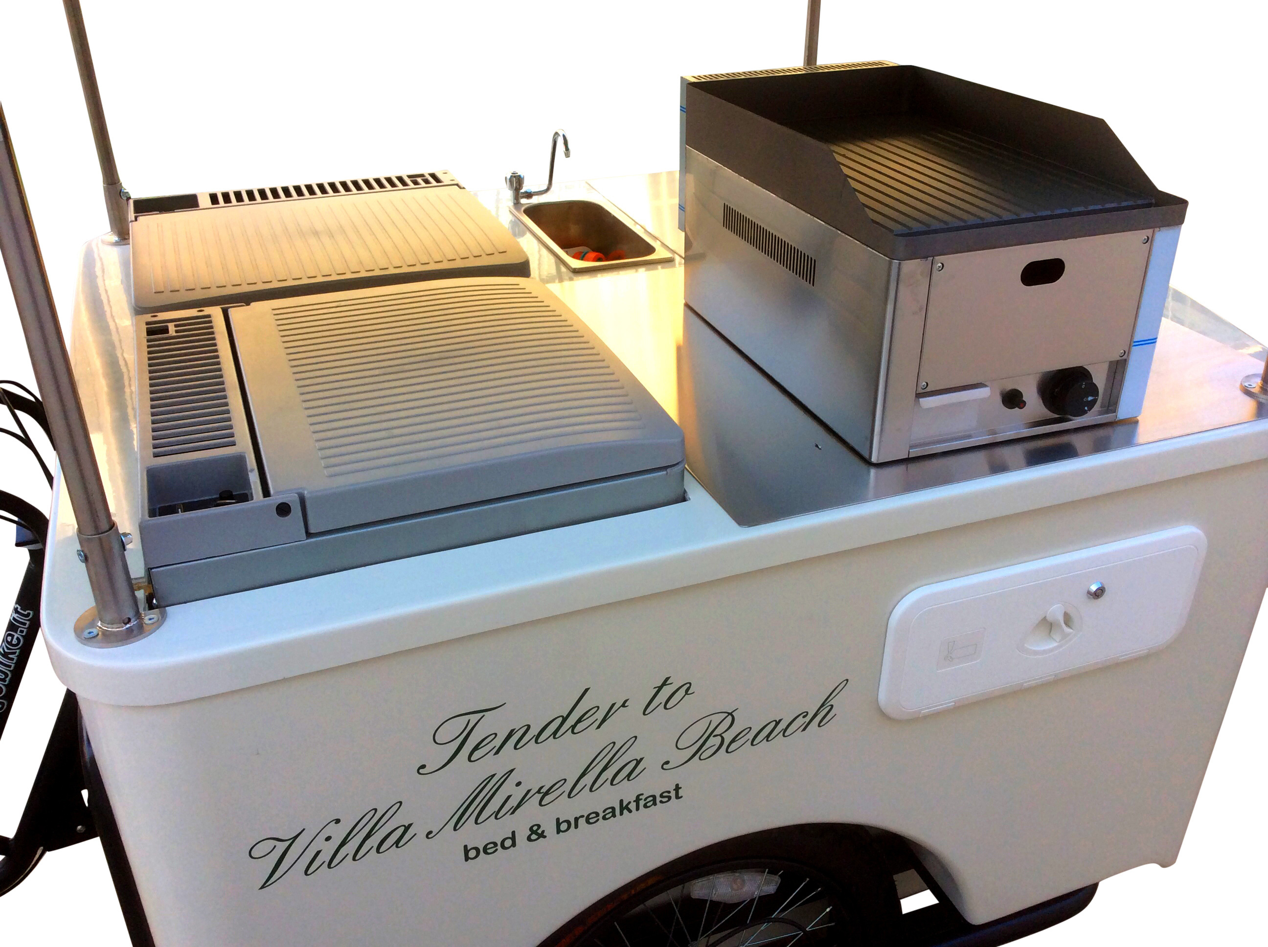 Street food bike big foot basic per il cibo di strada for Cucinare hot dog
