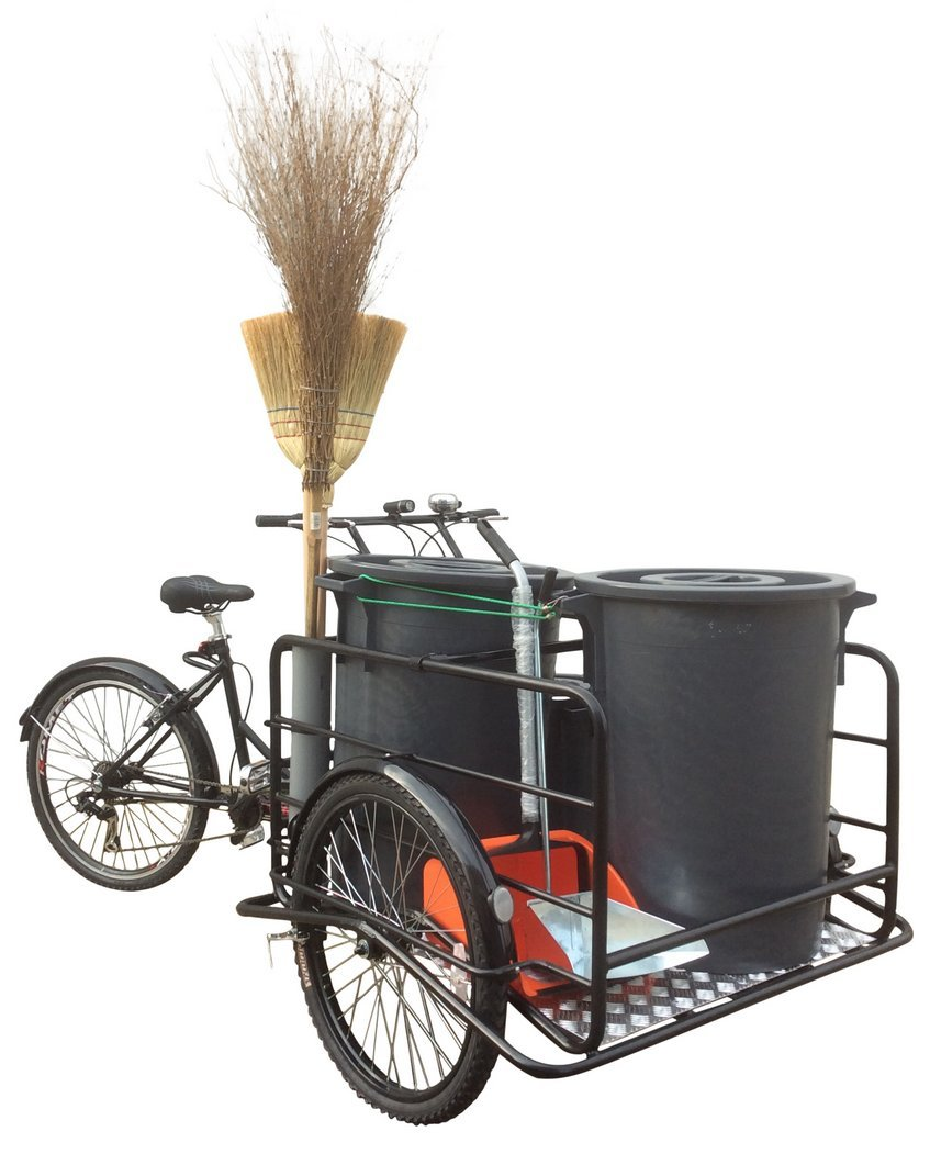 Tricycle_transport_garbage_bins_for_ecological_service_9